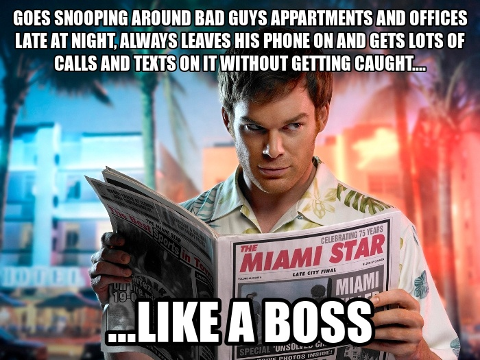 Funny Work Boss Meme : Dexter meme phone on like a boss on bingememe