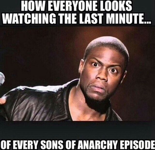 sons of anarchy___watching_the_last_minute sons of anarchy meme watching the last minute on bingememe
